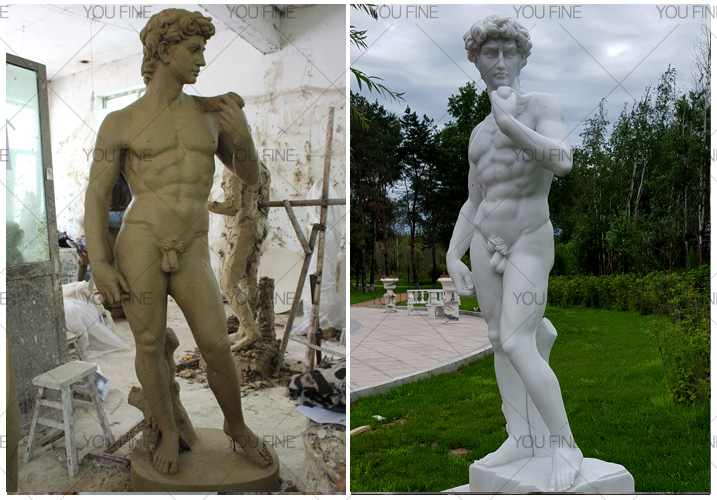 Famous life size art marble David Sculpture statue