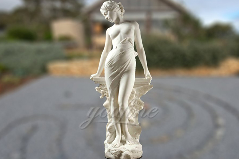 Life Size Naked Female Marble Statue