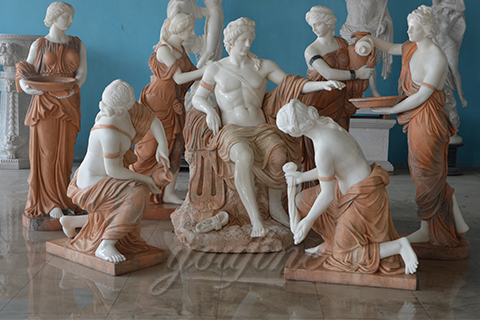 Classical marble Apollo Bathing sculpture for sale