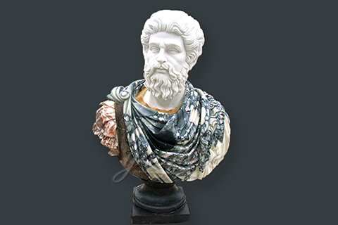 Hot sales hand carved marble roman bust