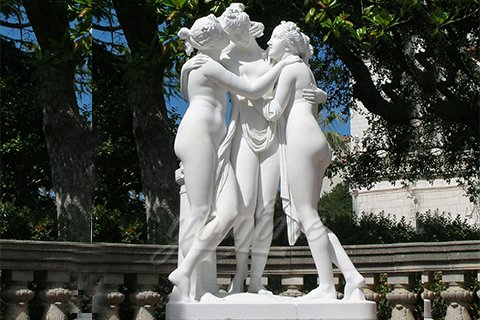 Garden Decor Life Size Statue Three Graces Sculpture