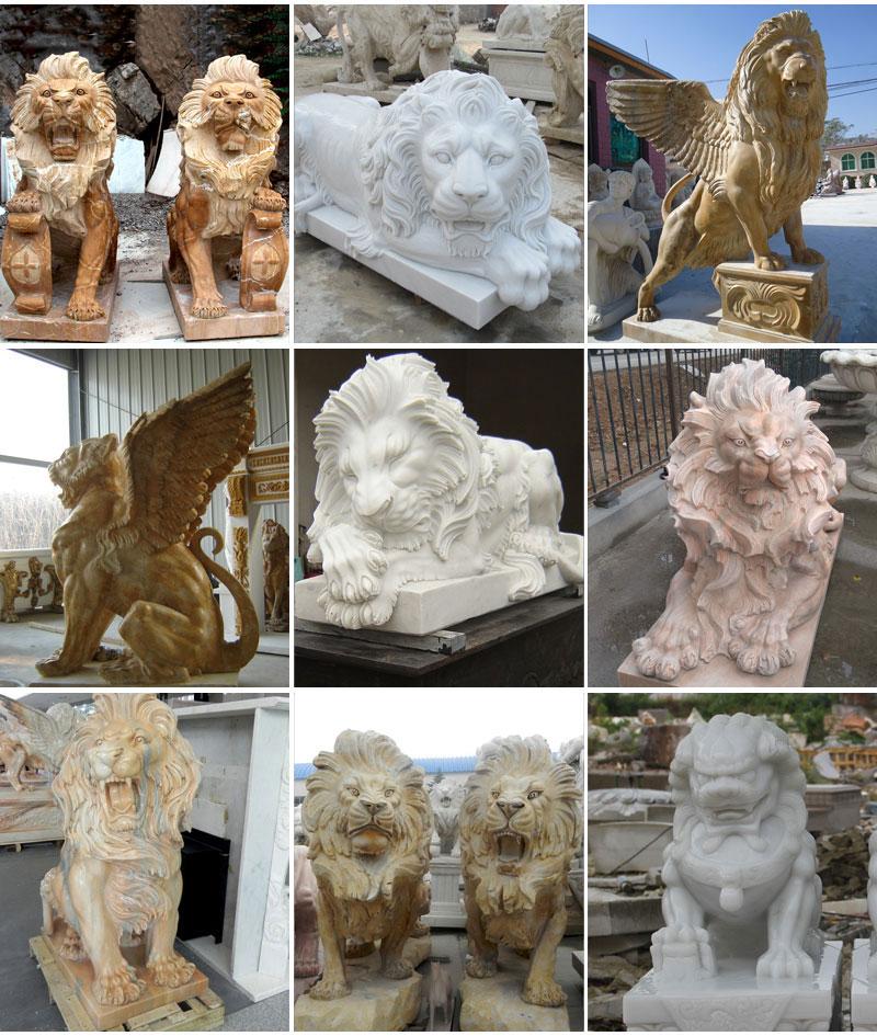 marble lion staue