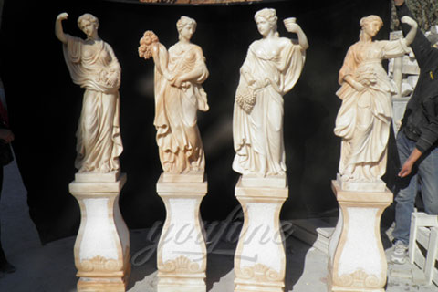 Classic Designs Colored Four Season Lady marble garden statue for sale