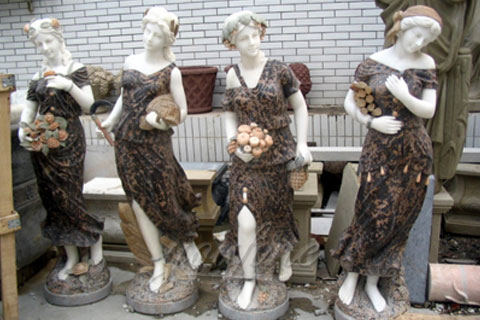 Garden Beautiful Four Season Ladies marble for outdoor decor