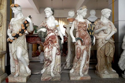 High quality garden decoration four seasons stone statue for sale