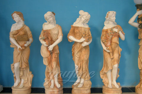 Hot Sale Garden Decorative Four Seasons Marble Statue Wholesale