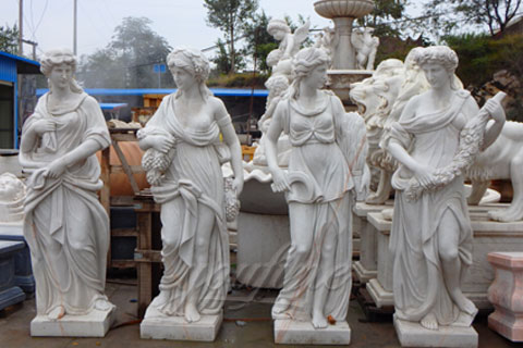 Hot Sale White Four Season Lady Marble Statues for Sale