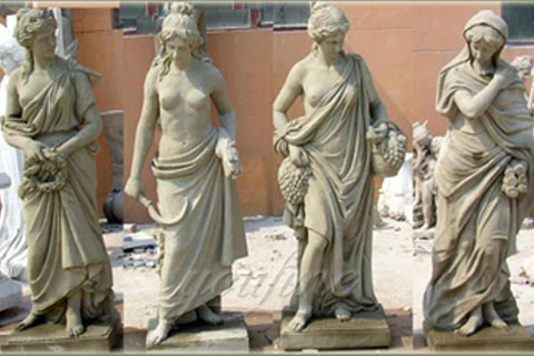 Hot Selling four season sculpture for outdoor decoration