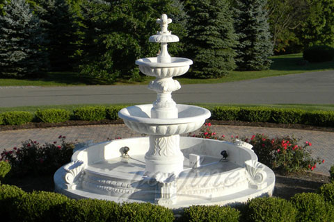 Install A Large Garden Lion Head Marble Fountain In New Zealand