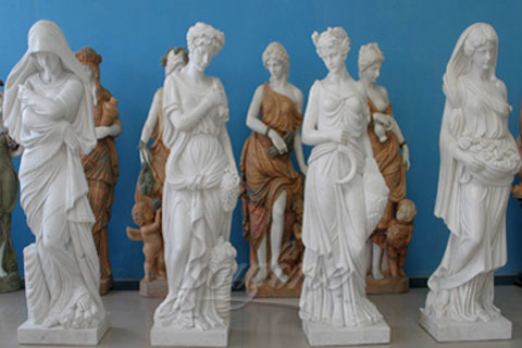 Life Size China White Marble Four Season Statue for Garden on Sale