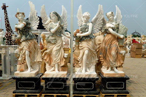Life Size Marble Garden Statue Of Four Season Beauty for Sale