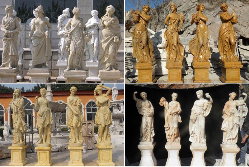 graceful four season god ladies statue sculpture