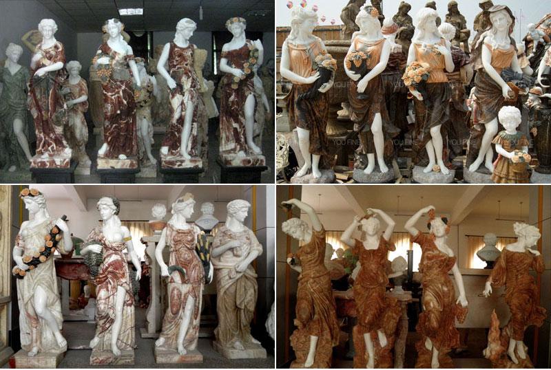 life size four season sculpture