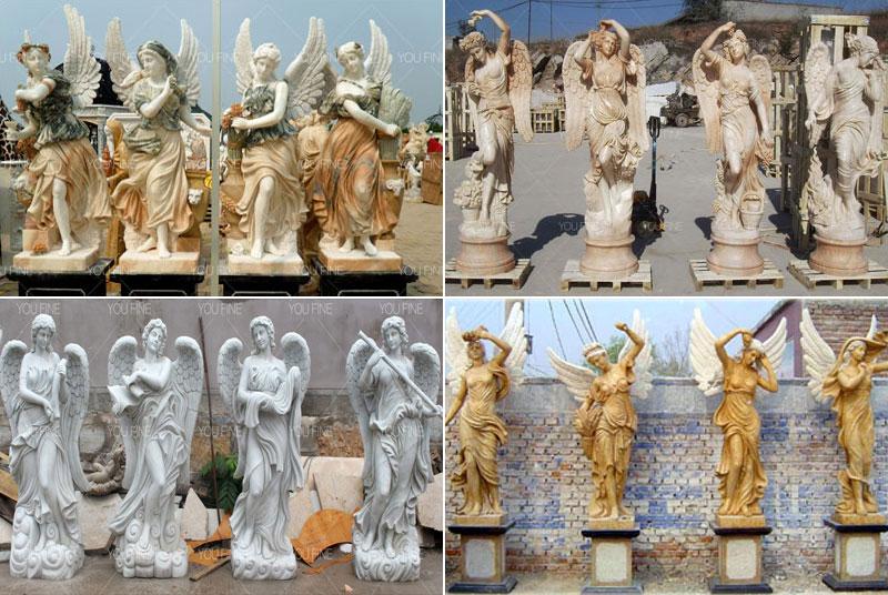 outdoor beauty four season god statues