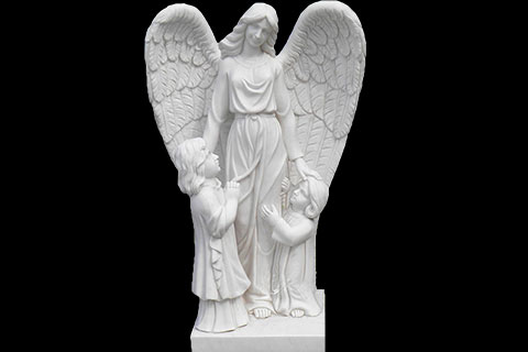 Hand Carved White Stone Angels Marble Statues for decoration