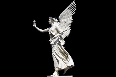 Hot sale outdoor Hand Carved White Stone Large Angel